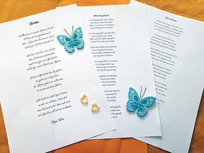 Gedichte - So schreibe ich