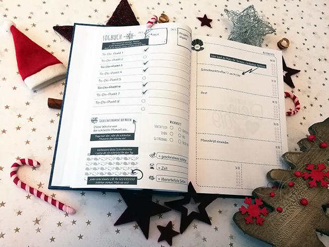 Logbuch und Wochenplan des Autorenjahreskalenders 2019