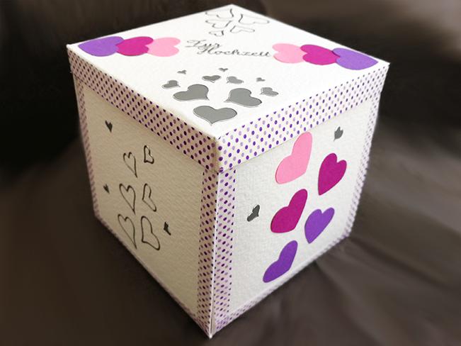Geldgeschenk Box zur Hochzeit