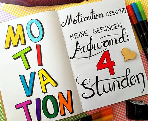 Lettering zur Motivation