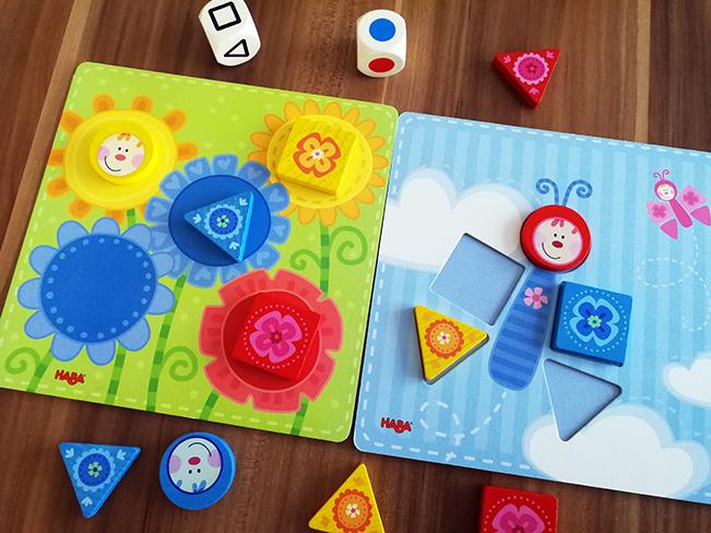 Verschiedene Spielmodi mit Farben und Formen