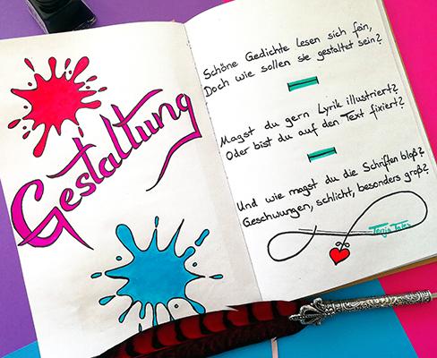 Lettering zum Thema Gestaltung