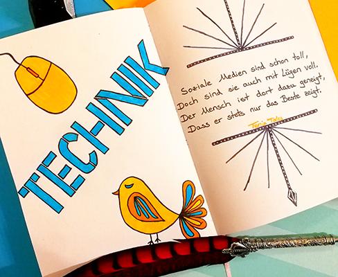 Ein Lettering zum Thema Technik