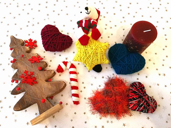 Weihnachtsdeko aus Wolle
