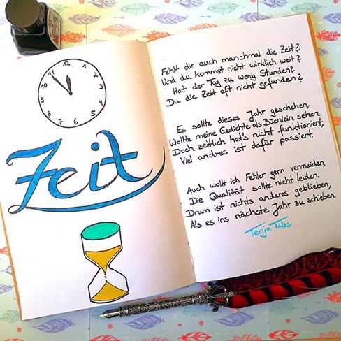 Lettering zum Thema Zeit