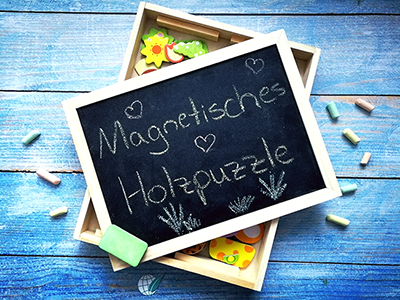 Magnetisches Holzpuzzle