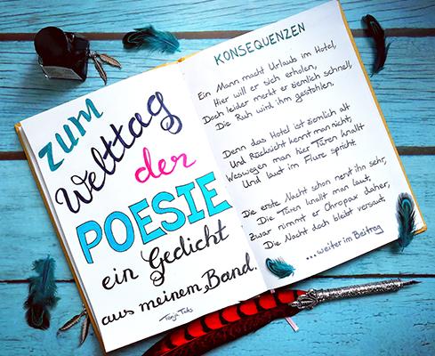 Lettering zum Welttag der Poesie 2020