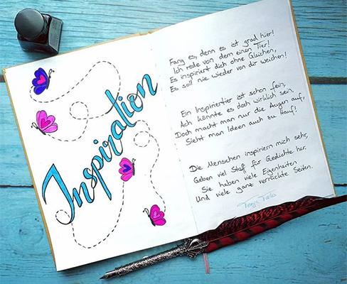 Ein Lettering zum Thema Inspiration.