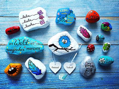 Steine bemalen – Lächeln schenken