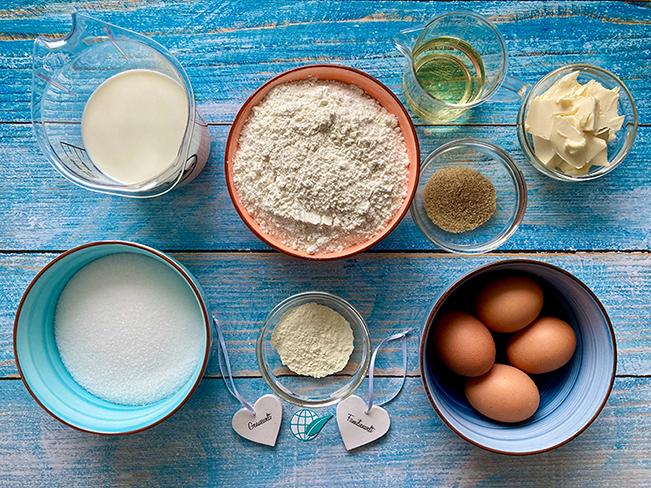 Zutaten für das Muffins-Grundrezept