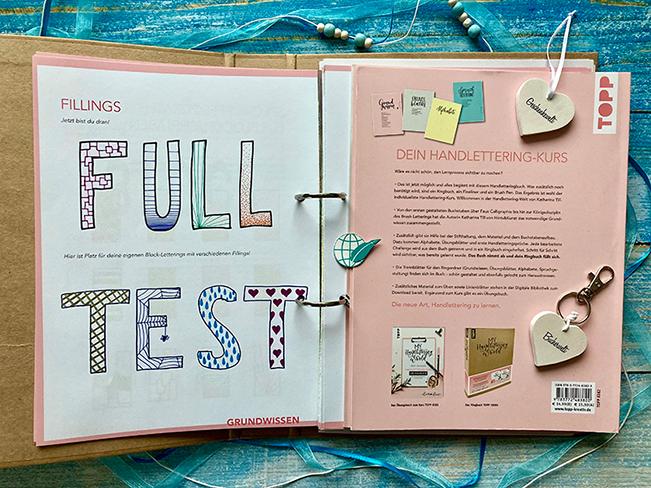 Kraftpapier-Ringbuch zum Handlettering Kurs