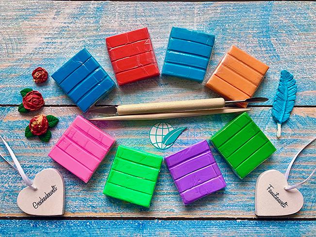 Modelliermasse in unterschiedlichsten Farben